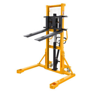 Straddle Legs Stacker 1100lbs Capacity 63 Lift Height Adjustable