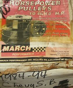 March Performance Alum steel Sbc v6 Serpentine Perf Pulley Kit P n 4120 08