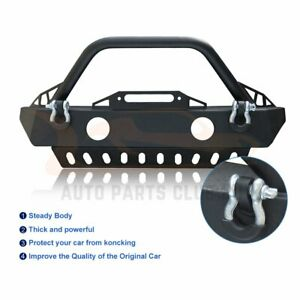 For Jeep Wrangler Jk 2007 2018 Complete Front Bumper Guard Fog Light Cut Out