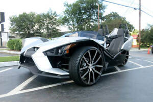 Polaris Slingshot 20 22 Staggered Lexani Wheels Gravity Black Machined
