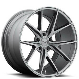4 20 Staggered Niche Wheels M116 Misano Anthracite Rims b4
