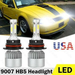 For 99 04 Ford Mustang Led Headlight Bulbs High Low Beam Combo Kit