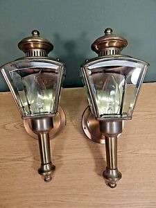 A Pair Of Vintage Exterior Porch Sconces Carriage Lights Made In The Usa