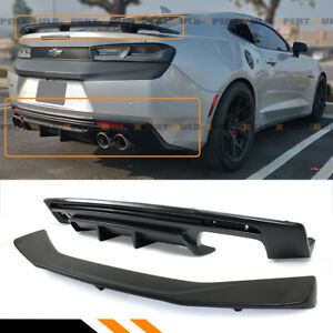 For 16 2020 Chevy Camaro Lt Rs Ss Shark Fin Rear Bumper Diffuser Trunk Spoiler