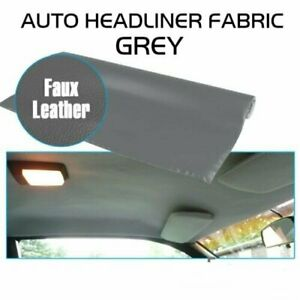 Upholstery Headliner Foam Back Repair Roof Liner W Faux Leathertte Cloth 85 X60