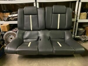 2010 2012 Ford Mustang Coupe Rear Black Leather Seat With Stripe