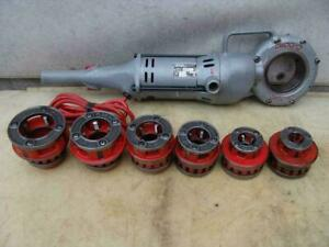 Ridgid 700 Pipe Threader With 12 r Die Set 1 2 To 2 Inch Great Shape 2