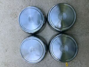 Ford Truck Van 87 98 16 Dog Dish Deep 3 1 4 Hubcaps 12 Stainless Steel Set 4