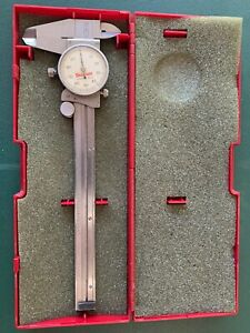 Starrett No 120a Dial Caliper W case 0 To 6 Hardened Stainless Steel Usa Nice
