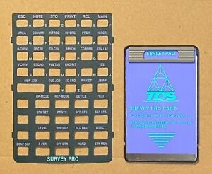 Tds Survey Pro Card W Manual Overlay For Hp 48gx Calculator