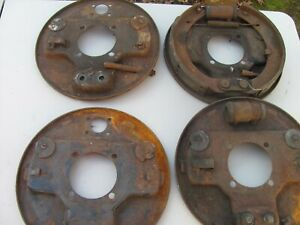 Deal Three 39 To 48 Ford Backing Plates 2 Right Rears 2 Fronts