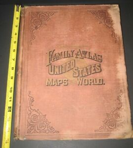 Huge Rare World United States Atlas Mapslike Colton S Johnson Sonly 1 Ebay