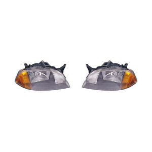 Fits 1998 2001 Chevrolet Metro Headlight Pair Lh Rh Gm2502166 Gm2503166