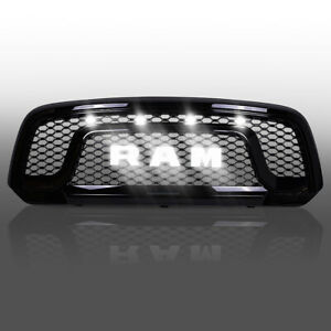 Dodge Ram 1500 Bumper Grill For 13 18 Mesh Gloss Black W Letters