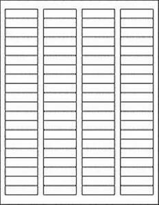 1 75 x 5 Matte White Blank Printable Return Address Labels W Removable Adhesiv