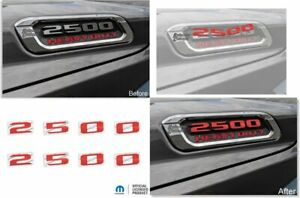 2500 Hood Emblem Number Decal Stickers For 2019 2020 2021 Ram 2500