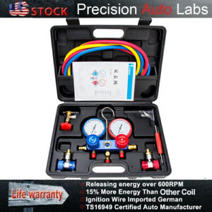 A c Diagnostic Manifold Gauge Set Refrigeration Service Kits Hvac R12 R22 R134a
