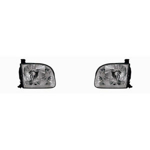 Fits 2001 2004 Toyota Sequoia Headlight Pair Driver And Passenger Side W bulbs