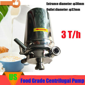 Food Grade Stainless Steel Centrifugal Pump 3t h Beverage Pump 750w Low Noise
