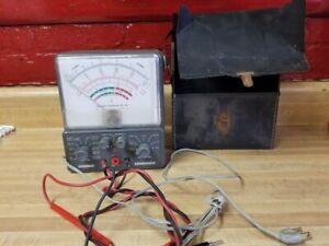 Accurate Instrument Co Model 155 Supertester With A Case Seems To Be Working