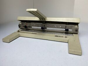 Acco 3 Hole Punch Mutual Model 450 Heavy Duty Steel 10 1 2 Legal