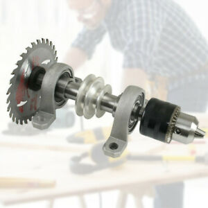 Diy Spindle Chuck Bearing Seat Pulley Bench Saw Drill Woodworking Rotary Lathe S