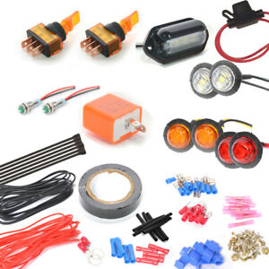 Toggle Switch Universal Turn Signal Street Legal Led Light Kit For Sxs Atv Utv