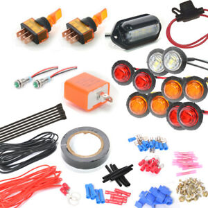 Sxs utv Polaris General Led Turn signal Kit W 2 On off Toggle Switch Amber Red