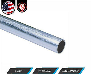 1 5 8 Galvanized Round Steel Tube 17 Gauge 48 Inches Long 4 ft