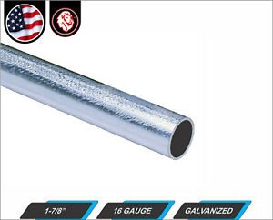 1 7 8 Galvanized Round Steel Tube 16 Gauge 24 Inches Long 2 ft
