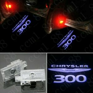 2x Color Led Door Ghost Logo Projector Puddle Light For Chrysler 300 2005 19