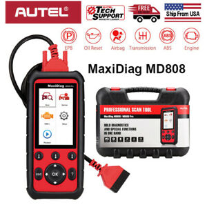 Autel Maxidiag Md808 Obd2 Diagnostic Scan Tool Engine Srs Abs Epb Dpf Sas Bms