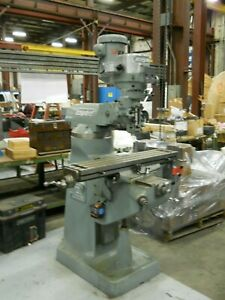 Bridgeport 2 H p Series 2j Milling Machine With Servo Type 150 Powerfeed