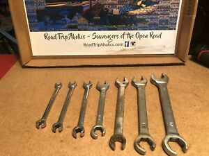 Cornwell Snap On Sae Flare Nut Line Wrench Set Double Ended Open End