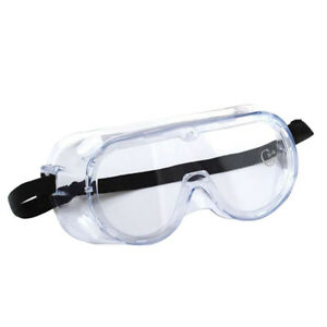 Safety Goggles Over Glasses Lab Work Eye Protective Eyewear Clean Lens 1 10 Pcs