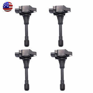 4pcs Oem Ignition Coil Fits For Nissan Versa Note 1 6l 22448 1hc0a Us