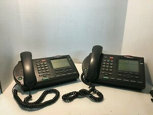Nortel Networks Ntmn34ga70 M3904 Charcoal Professional Telephone Lot Of 2