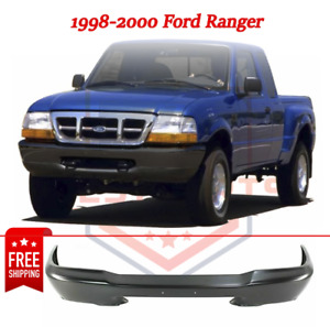 New Front Bumper Painted Black Steel For 1998 2000 Ford Ranger Styleside