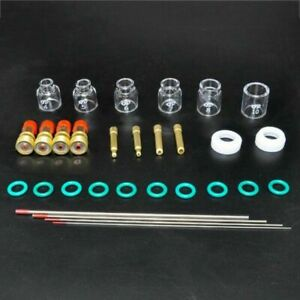 30x Tig Welding Torch Stubby gas Lens 12 Pyrex Glass Cup Kit For Wp 9 20 25 17