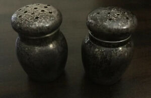 Antique Vintage Sterling Silver Salt Pepper Mini Shakers Set 12 4 Grams