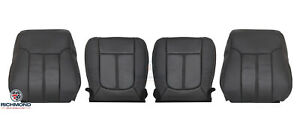 2011 Ford F250 Lariat driver Passenger Side Complete Leather Seat Covers Black