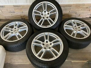 2018 Porsche Panamera 19 Staggered Silver Factory Oem Wheels Rims 2019 2017 16