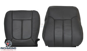 2012 2013 Ford F250 F350 Lariat driver Side Complete Leather Seat Covers Black