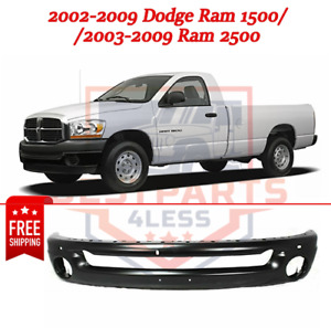 Front Bumper Painted Black Steel For 2002 2009 Dodge Ram 1500 03 09 Ram 2500