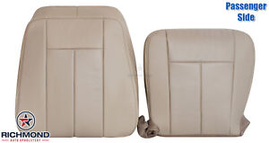 2007 2014 Ford Expedition Passenger Side Complete Leather Seat Covers Tan Perf