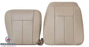 2008 2009 Ford Expedition Driver Side Complete Perforated Leather Seat Cover Tan