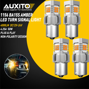 Auxito 1156 Ba15s Led Amber Yellow Turn Signal Blinker Light Canbus Light Bulbs