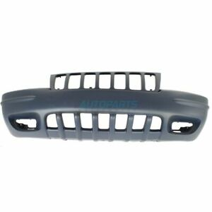 New Front Bumper Cover Primed Fits 1999 2000 Jeep Grand Cherokee Ch1000266