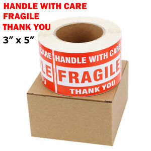3 X 5 Fragile Stickers Handle With Care Thank You Warning Label Tag Craft Us