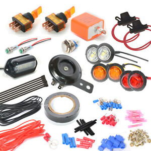 Universal Turn Signal Light Kit With Horn Button For Sxs Atv Utv Toggle Switch